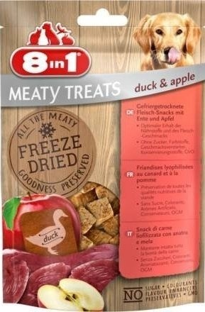 8in1 Dog Freeze Dried Duck/Apple 50g