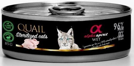 ALPHA SPIRIT Křepelky - sterilizované kočky 85g