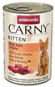 ANIMONDA Cat Carny Kitten chuť: hovězí, telecí a drůbeží 400g