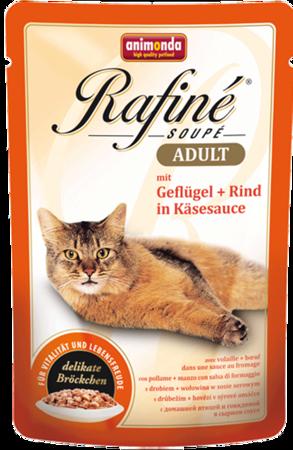 ANIMONDA Cat Rafine Soupe Adult drůbež + hovězí maso 100g