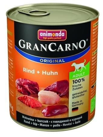 ANIMONDA GranCarno Adult Dog chuť: Hovězí maso + kuře 800g