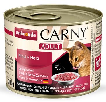 Animonda Cat Carny Adult příchuť: hovězí a srdce 200g
