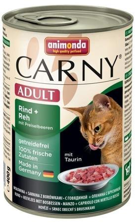 Animonda Cat Carny Adult příchuť: srnčí a borůvky 400g
