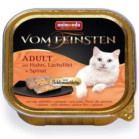 Animonda Cat Vom Feinsten Adult s náplní: kuřete, lososa a špenát 100g