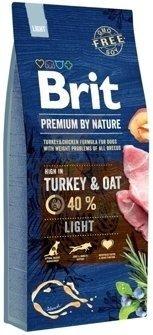 Brit Premium By Nature Light 15kg + Let's Bite Chicken Fillet 80g ZDARMA!!!!!